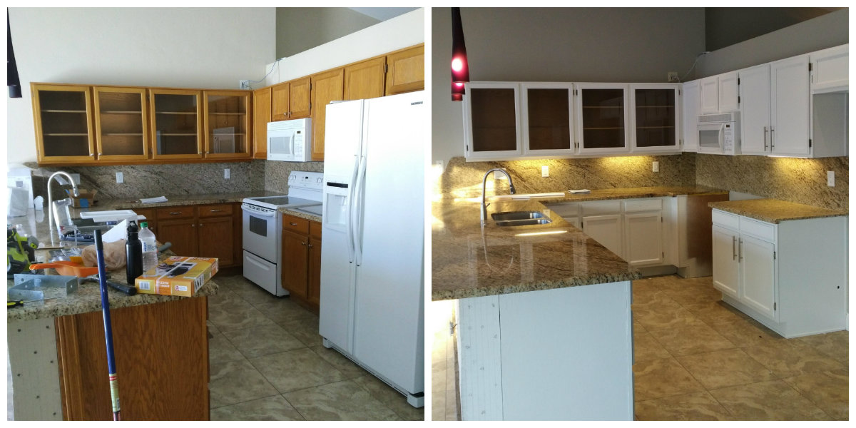 Kitchen Cabinet Refinishing by Kino's Painting & Remodeling
